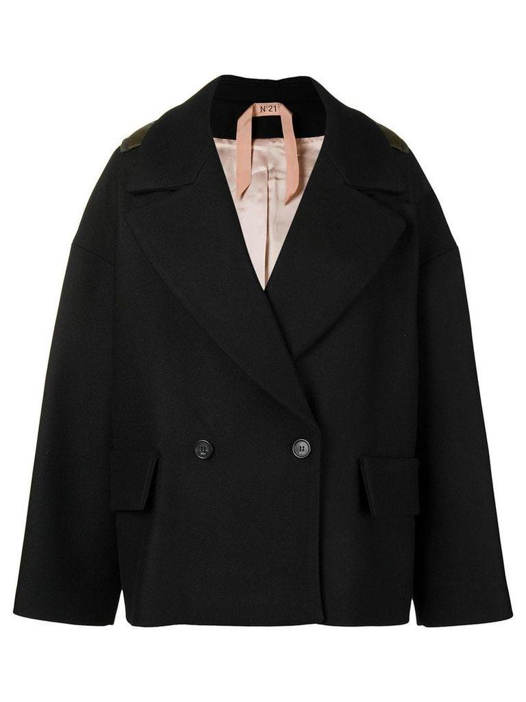 No21 oversized hooded jacket - Black