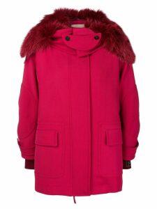Fendi hooded parka jacket - Red
