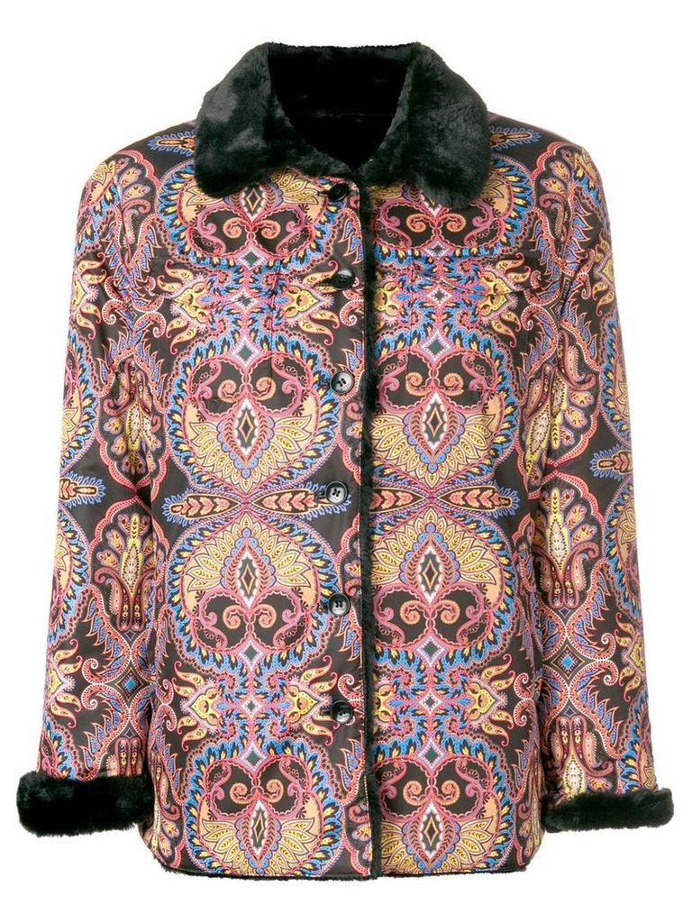 Etro paisley print jacket - Black
