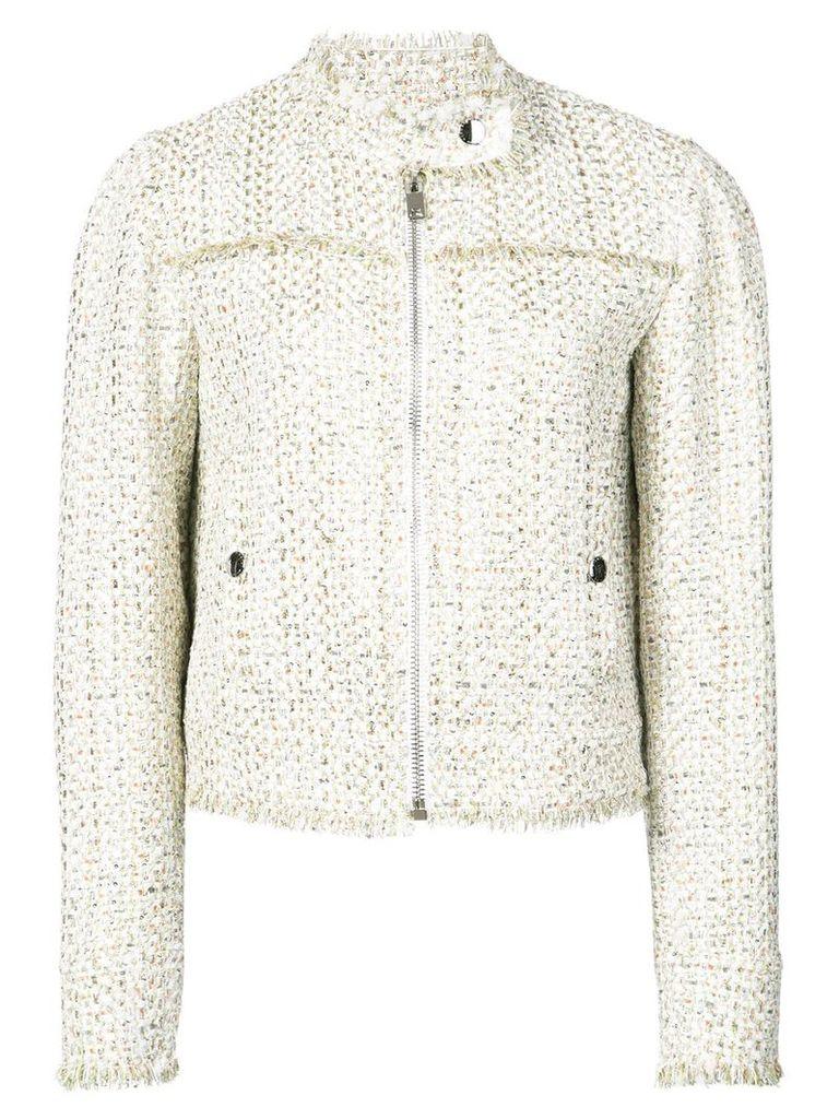 Giambattista Valli cropped tweed jacket - Neutrals