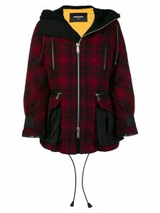 Dsquared2 hooded oversized parka coat