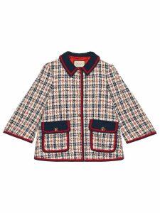 Gucci Tweed check jacket - Blue