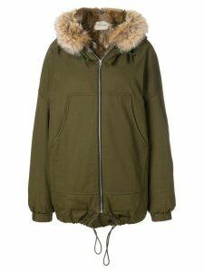 Holland & Holland fur hooded jacket - Green