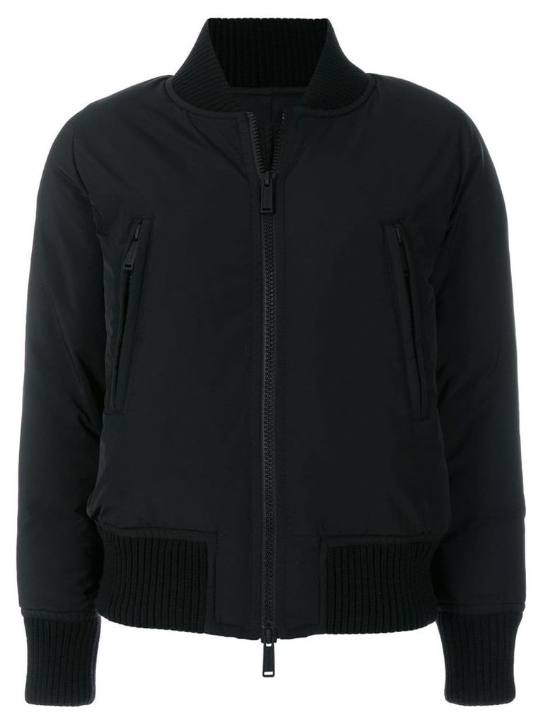 Dsquared2 Icon logo print bomber jacket - Black