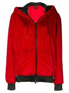 Tom Ford fur zip hoodie - Red