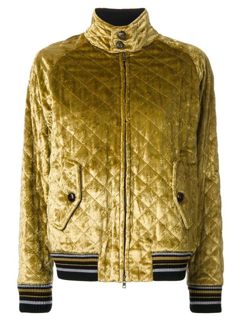 Maison Margiela quilted bomber jacket - Yellow