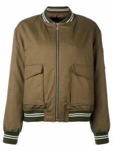 Liska oversized pockets bomber jacket - Green