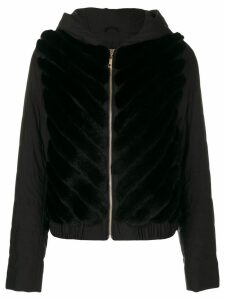Liska hooded bomber jacket - Black