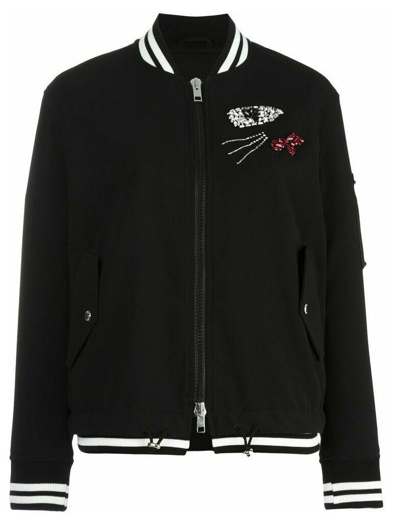 Ermanno Scervino embellished bomber jacket - Black