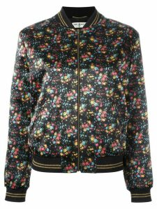 Saint Laurent wild flower print Teddy jacket - 8523 Black/Multi