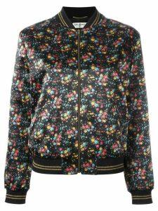 Saint Laurent wild flower print Teddy jacket - 8523 Black/Multi