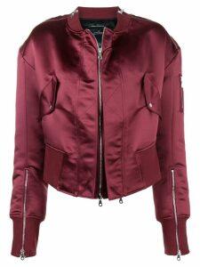 Rokh zip detail bomber jacket - Red