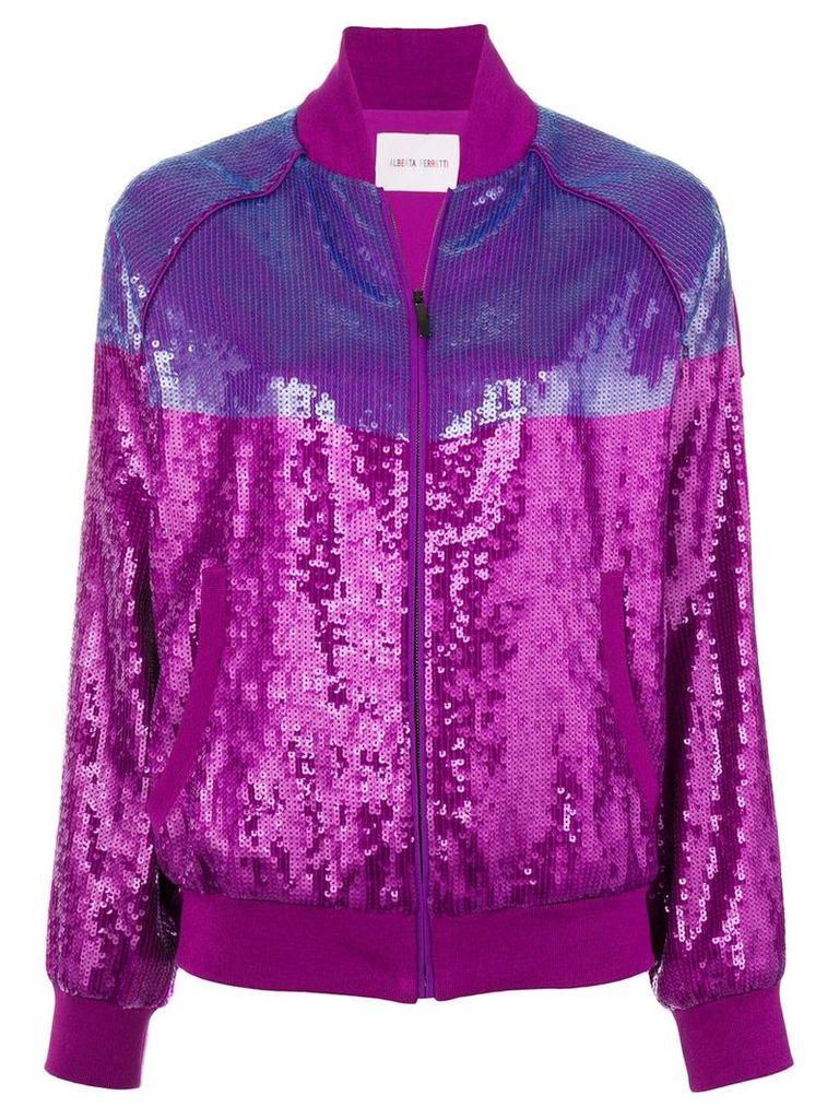 Alberta Ferretti sequins embellished bomber jacket - Pink