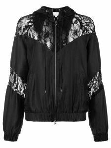 Fleur Du Mal lace detail track jacket - Black