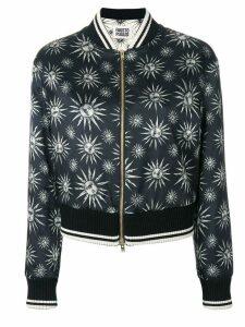 Fausto Puglisi sun print bomber jacket - Black