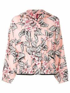 Moncler floral printed bomber jacket - Pink