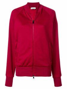 Moncler side stripe bomber jacket - Red