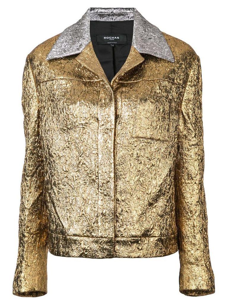 Rochas metallic glow jacket - Yellow