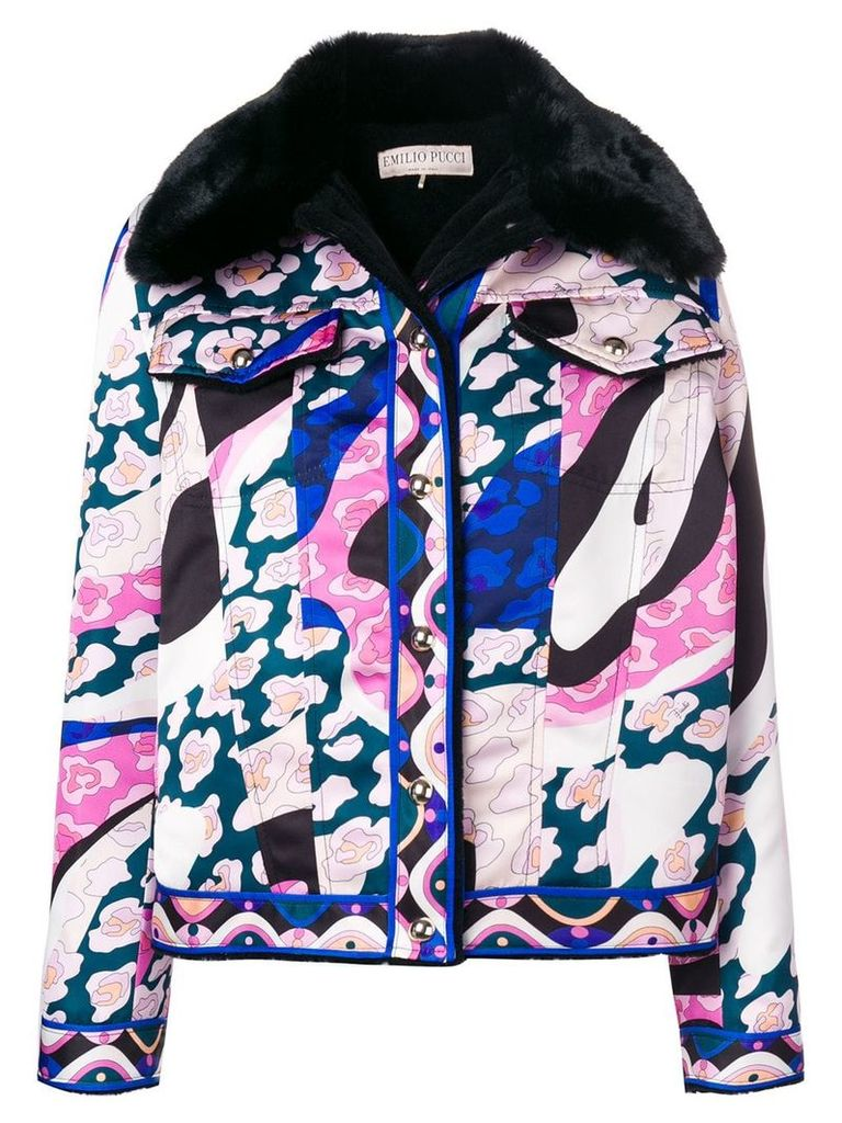 Emilio Pucci faux fur printed jacket - Pink