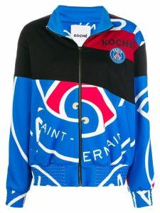 Koché PSG zip-up jacket - Blue