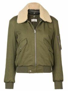 Saint Laurent army bomber jacket - Green
