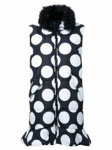MSGM dotted long waistcoat - Black