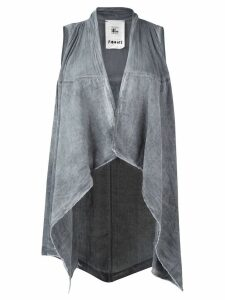 Lost & Found Rooms asymmetric hem waistcoat - Grey