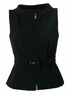 Boutique Moschino belted waistcoat - Black