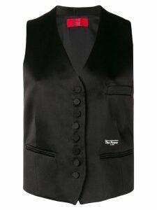 Styland satin waistcoat - Black