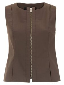 Gloria Coelho zipped waistcoat - Brown