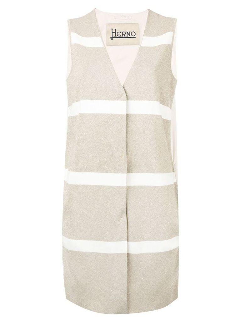 Herno striped waistcoat - Neutrals