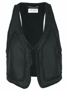 Saint Laurent trim detail waistcoat - Black