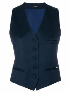 Styland button waistcoat - Blue