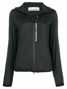 Paco Rabanne logo raincoat - Black