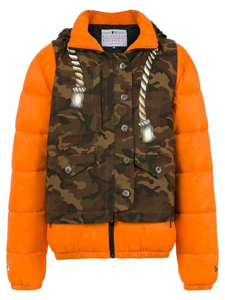 À La Garçonne waistcoat quilted jacket - Brown