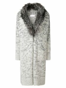 Fabiana Filippi fur collar cardi-coat - Grey