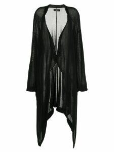 Y's long draped cardigan - Black