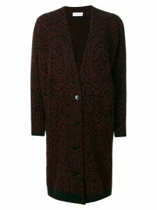 Christian Wijnants patterned cardi-coat - Black