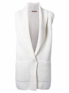 Nehera cable knit cardi-coat - White