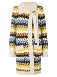 Chloé long knitted cardigan - Multicolour
