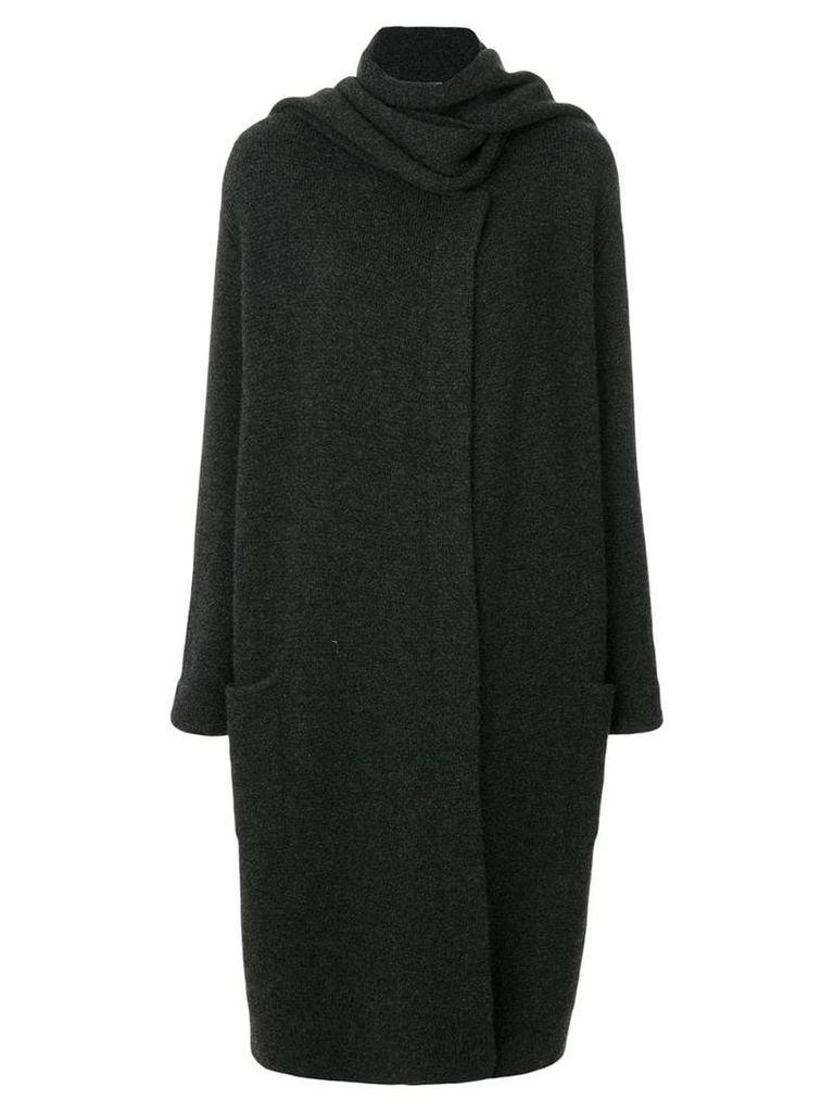 Le Kasha Antigua oversized scarf coat - Black
