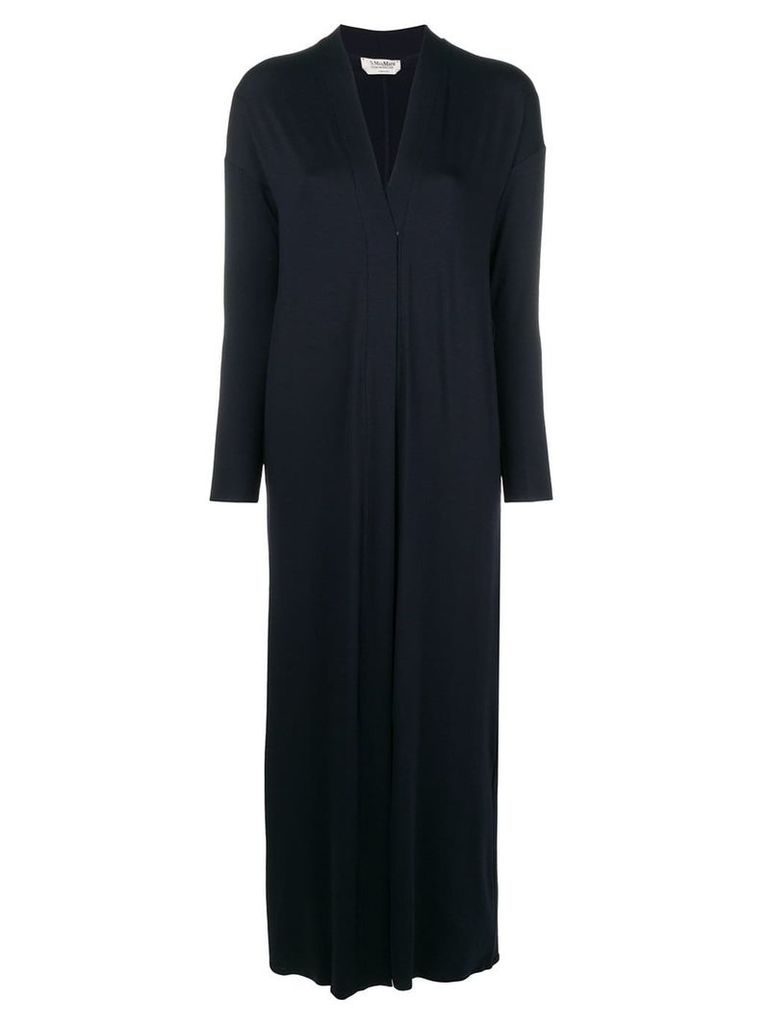 'S Max Mara open front long cardi-coat - Blue