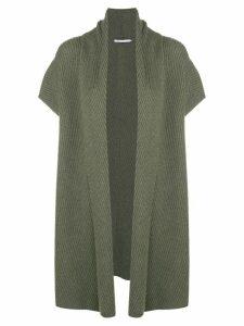 Agnona ribbed cardo-coat - Green