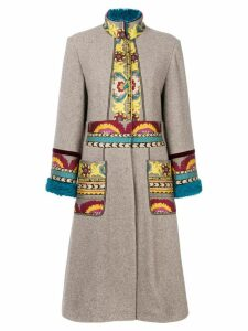 Etro embroidered cardi-coat - Neutrals