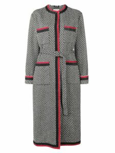 Gucci chevron tweed coat - Black