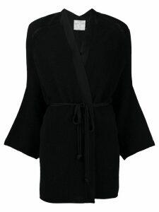 Forte Forte kimono style cardi-coat - Black
