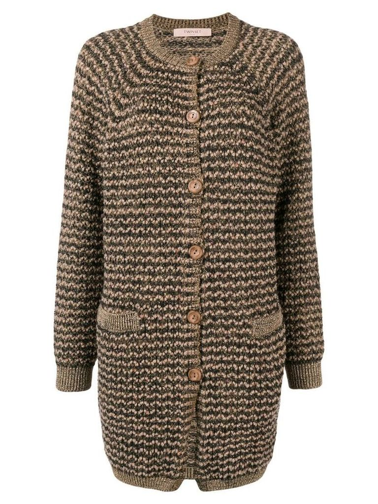 Twin-Set knitted cardi-coat - Brown