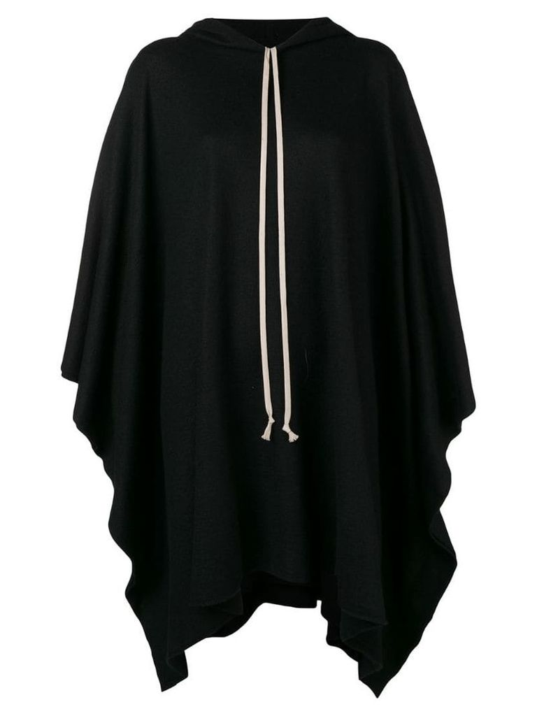 Rick Owens knitted hooded coat - Black