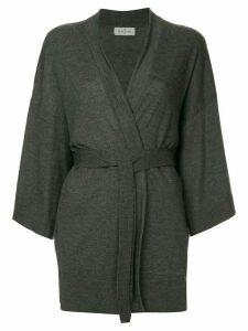 Le Kasha belted cardi-coat - Grey