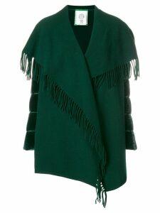 Moncler draped shawl cardi-coat - Green